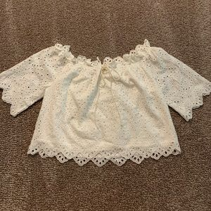 Impeccable Pig Macy White Eyelet Top